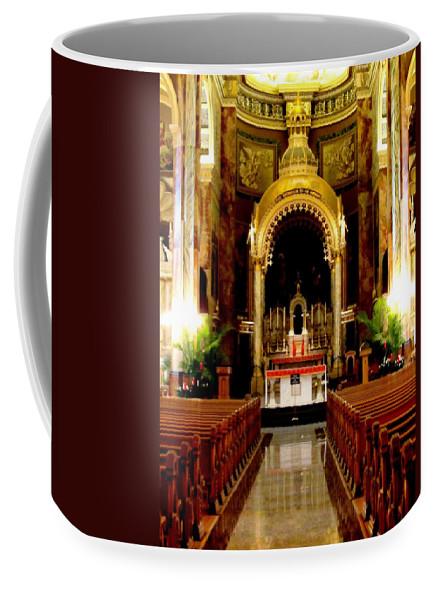 Basilica Of Saint Josaphat. Milwaukee Coffee Mug featuring the photograph Main Altar Of Basilica by Karen Majkrzak