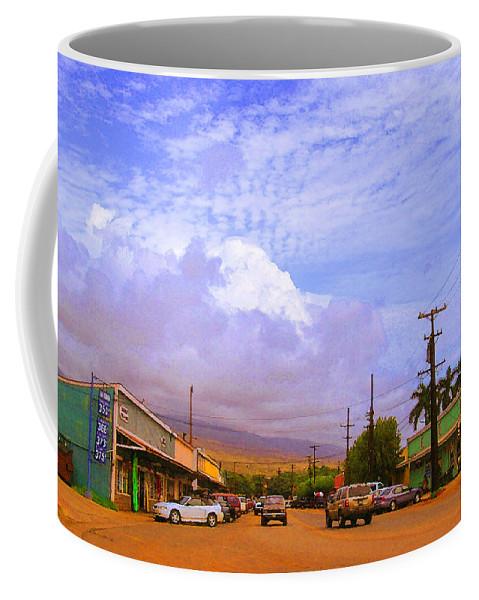 Kaunakakai Coffee Mug featuring the photograph Main Street Kaunakakai by James Temple