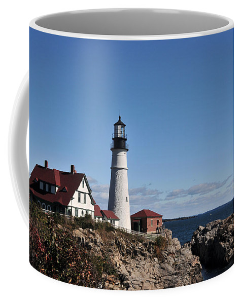 Lighthouse Coffee Mug featuring the photograph Maine 45 by Terri Winkler