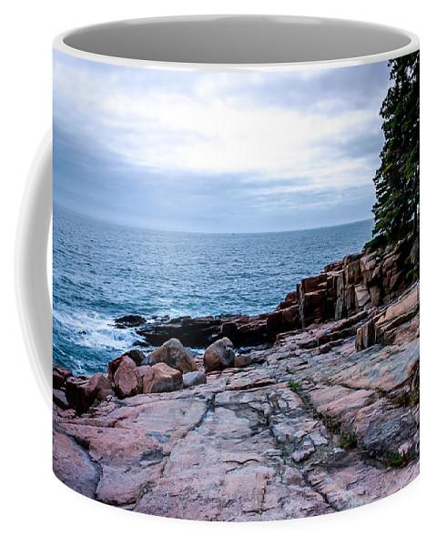 New England Coffee Mug featuring the photograph Maine Coastline by DAC Photography
