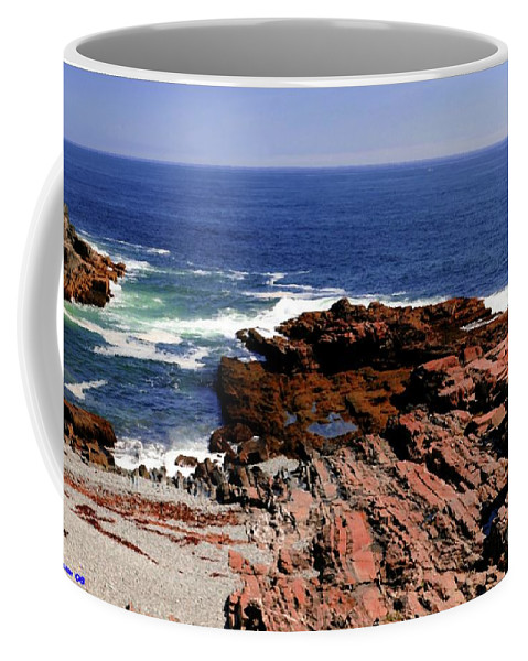 Atlantic Coffee Mug featuring the photograph Maine Seascape by Kathleen Struckle