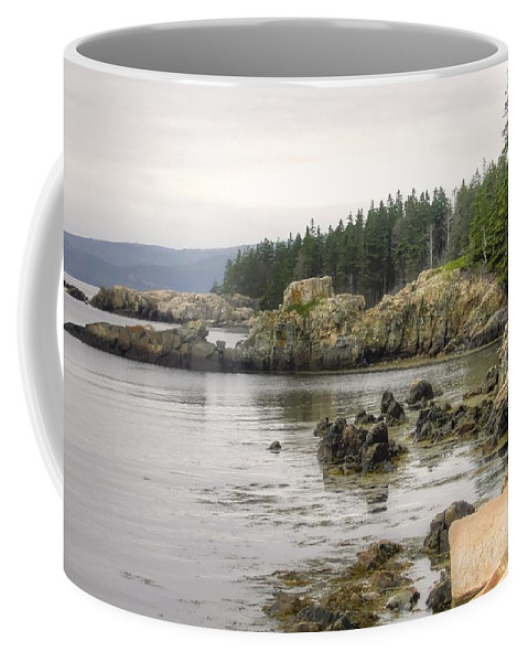 Denyse Duhaime Photography Coffee Mug featuring the photograph Maine's Beautiful Rocky Shore by Denyse Duhaime