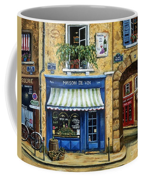Wine Coffee Mug featuring the painting Maison De Vin by Marilyn Dunlap