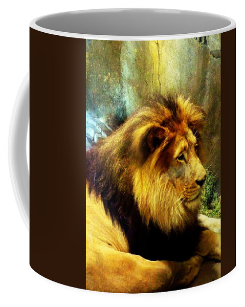 Lion Coffee Mug featuring the photograph Majestic by Carla Parris
