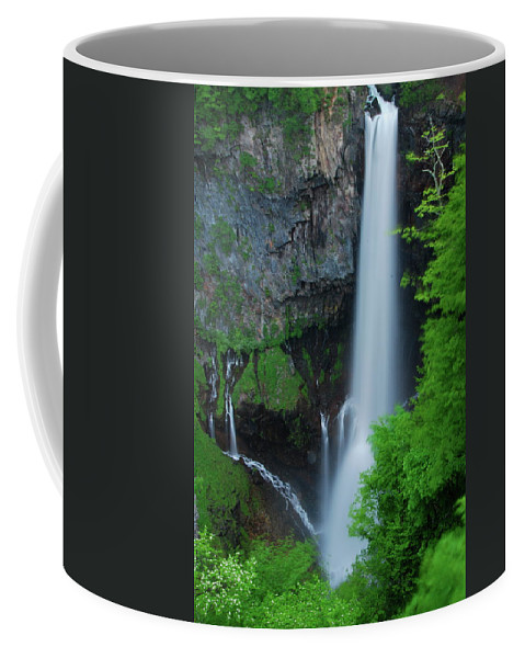 Waterfall Canvas Prints Coffee Mug featuring the photograph Majestic Kegon Falls by Jonah Anderson