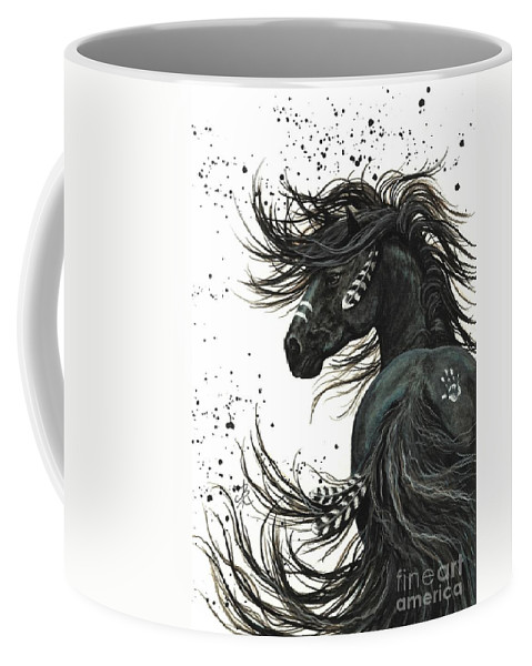 Mm65 Coffee Mug featuring the painting Majestic Spirit Horse I by AmyLyn Bihrle