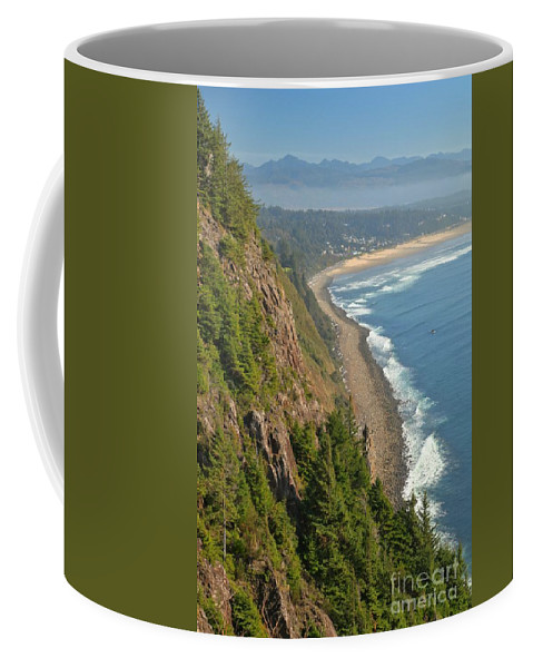Oregon Cliffs Coffee Mug featuring the photograph Majestic Oregon View by Adam Jewell