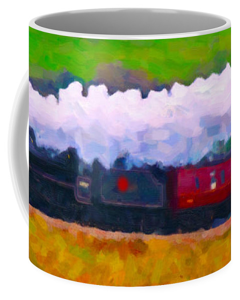 Poster Coffee Mug featuring the digital art Making The Grade by Chuck Mountain