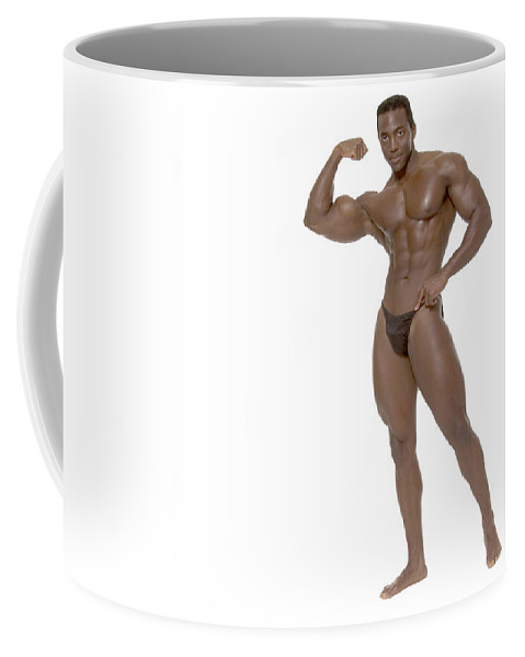 Man Coffee Mug featuring the photograph Male Bodybuilder by Bob Pardue
