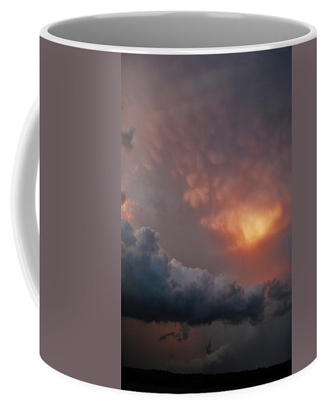 Texas Coffee Mug featuring the photograph Mammatus At Sunset by Ed Sweeney