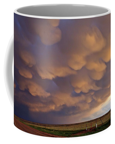 Storms Coffee Mug featuring the photograph Mammatus Over Flagler 2 by Marcelo Albuquerque