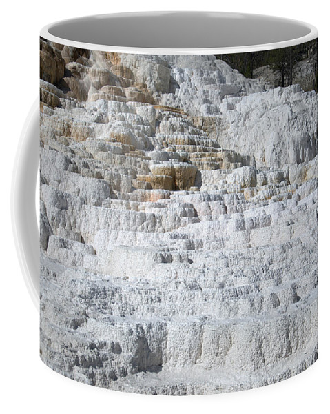 White Coffee Mug featuring the photograph Mammoth Hotsprings 3 by Frank Madia