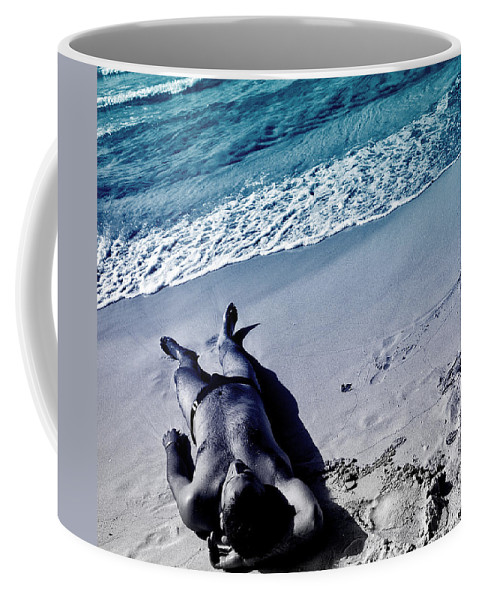 Man Coffee Mug featuring the photograph Man I Love The Beach by Davids Digits