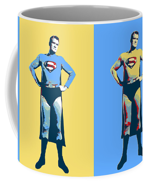 Pop Art Coffee Mug featuring the mixed media Man Of Steel by Dominic Piperata