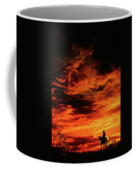 Photography Coffee Mug featuring the photograph Man On Horse by Vintage Images