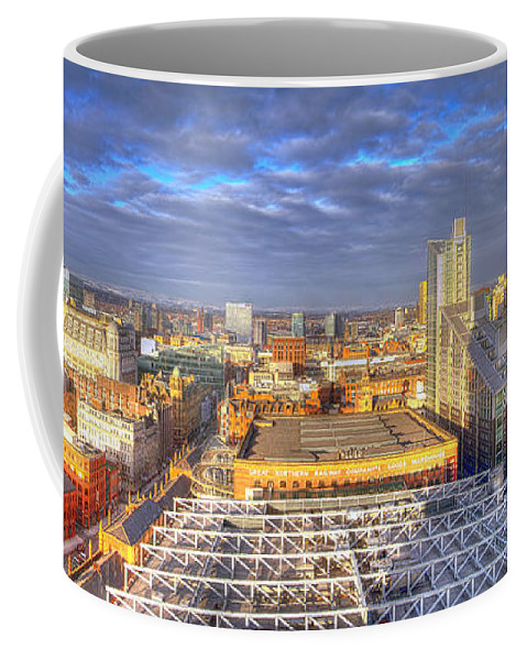 Sky Coffee Mug featuring the photograph Manchester Skyline Panoramic Hdr by Nick Field