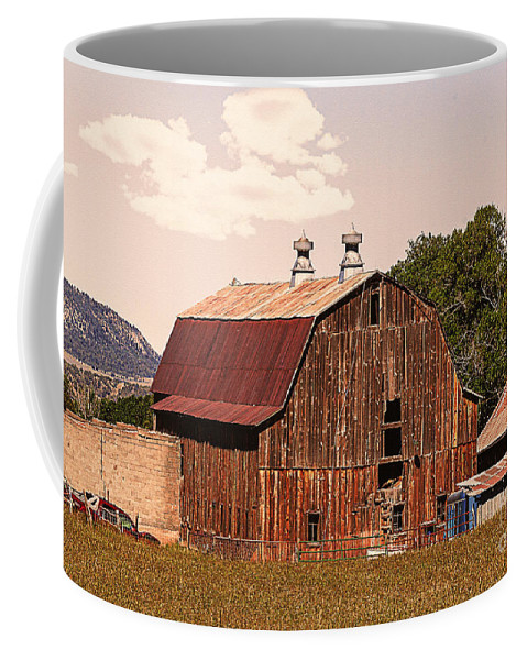Barn Coffee Mug featuring the photograph Mancos Colorado Barn by Janice Pariza
