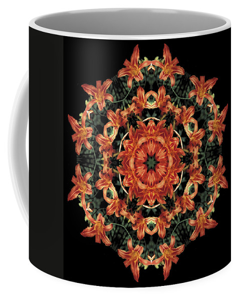 Mandala Coffee Mug featuring the photograph Mandala Daylily by Nancy Griswold