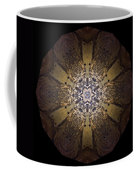 Mandala Coffee Mug featuring the photograph Mandala Sand Dollar At Wells by Nancy Griswold
