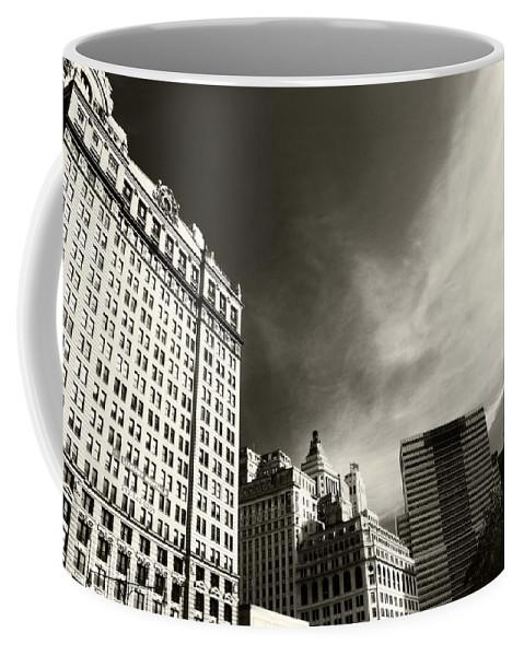 Manhattan Contrast Coffee Mug featuring the photograph Manhattan Contrast by Dan Sproul
