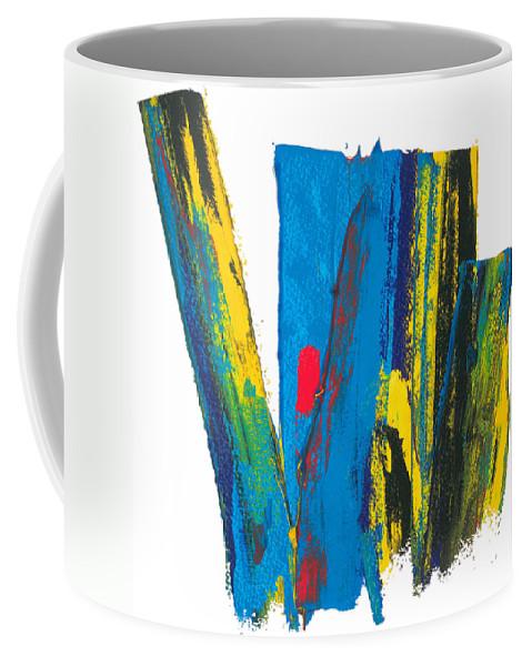 Contemporary Coffee Mug featuring the painting Manhattan Skyline by Bjorn Sjogren