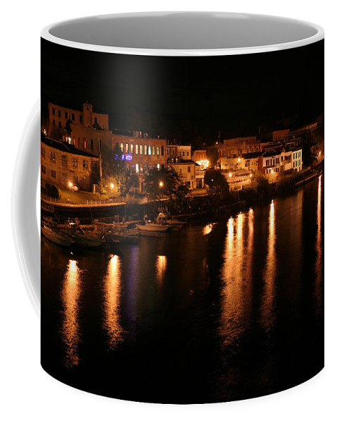 City Coffee Mug featuring the photograph Manistee River Channel 2 by Allan Lovell