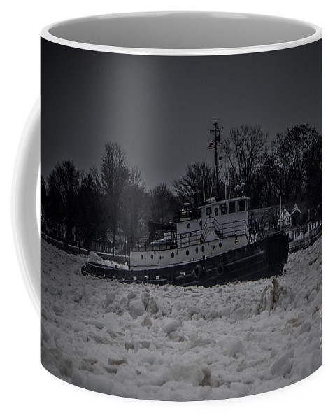 Tugboat Coffee Mug featuring the photograph Manitou Tugboat by Ronald Grogan