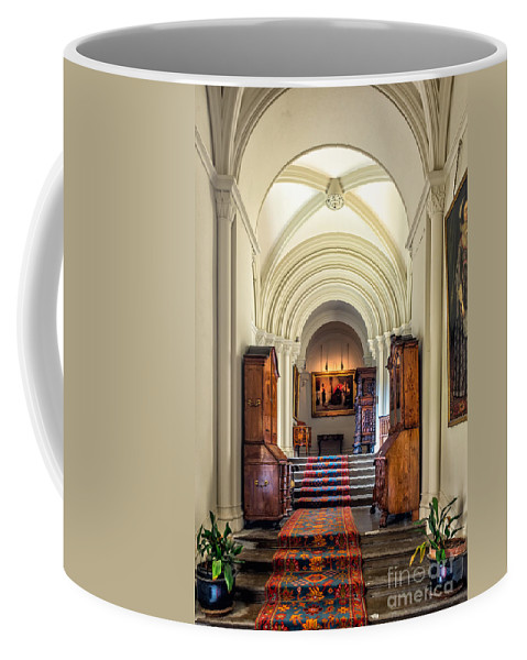 British Coffee Mug featuring the photograph Mansion Hallway IIi by Adrian Evans