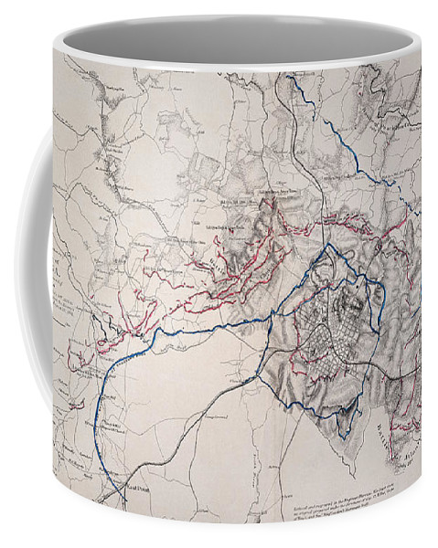 1864 Coffee Mug featuring the photograph Map: Siege Of Atlanta 1864 by Granger
