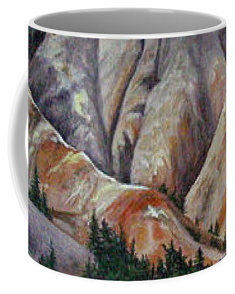 Mountains Coffee Mug featuring the painting Marble Ridge by Elaine Booth-Kallweit