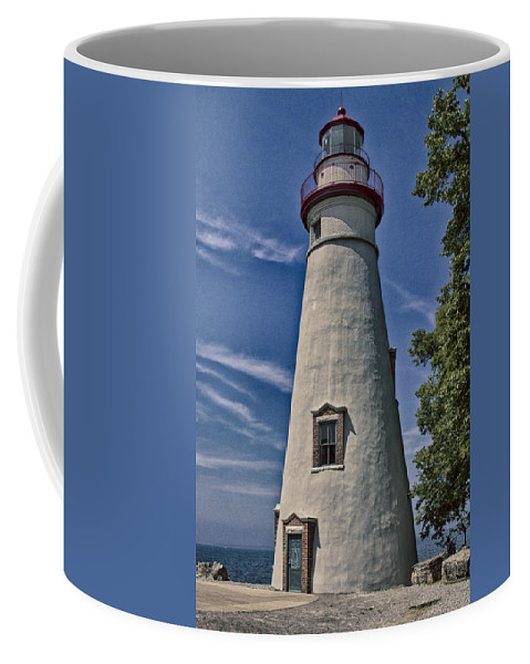Erie Coffee Mug featuring the photograph Marblehead Lighthouse Lake Erie by Jack R Perry