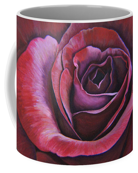 Rose Coffee Mug featuring the painting March Rose by Thu Nguyen