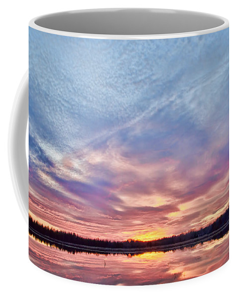 Sunset Coffee Mug featuring the photograph March Sunset At Whitesbog by Beth Sawickie