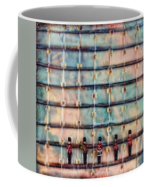 Marching Band Coffee Mug featuring the mixed media Marching Band Encaustic by Bellesouth Studio
