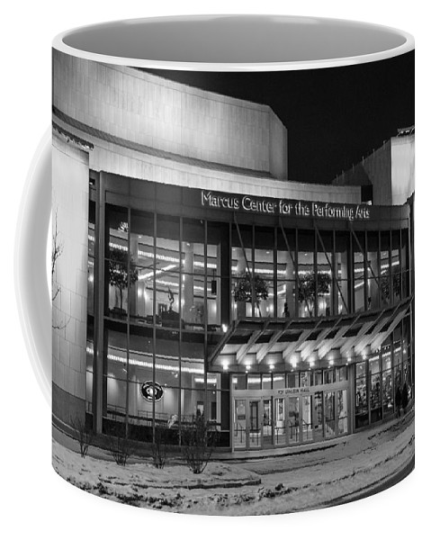 Marcus Center For The Performing Arts Coffee Mug featuring the photograph Marcus Center For The Performing Arts by Susan McMenamin
