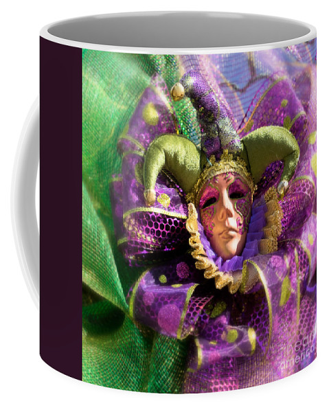 Carnival Coffee Mug featuring the photograph Mardi Gras Decoration by Jerry Fornarotto