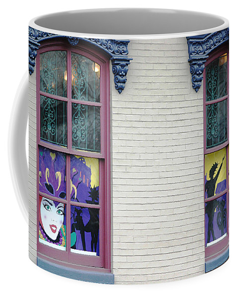 Windows Coffee Mug featuring the photograph Mardi Gras Windows by Living Color Photography Lorraine Lynch