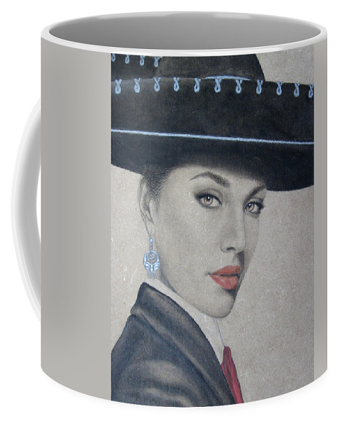 Mariachi Coffee Mug featuring the painting Mariachi by Lynet McDonald