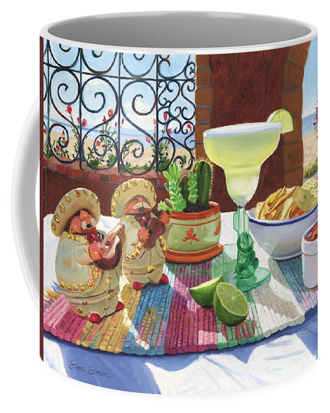 Cocktail Coffee Mug featuring the painting Mariachi Margarita by Steve Simon