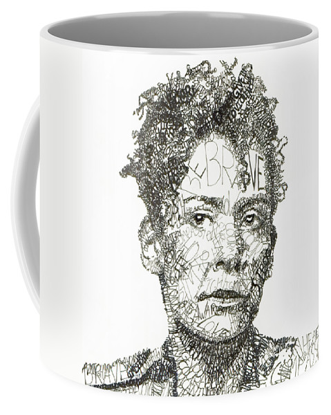 Journalism Coffee Mug featuring the drawing Marianne Pearl by Michael Volpicelli