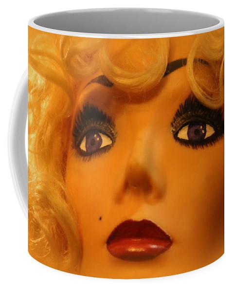 Marilyn Coffee Mug featuring the photograph Marilyn Mannequin by Lynn Sprowl