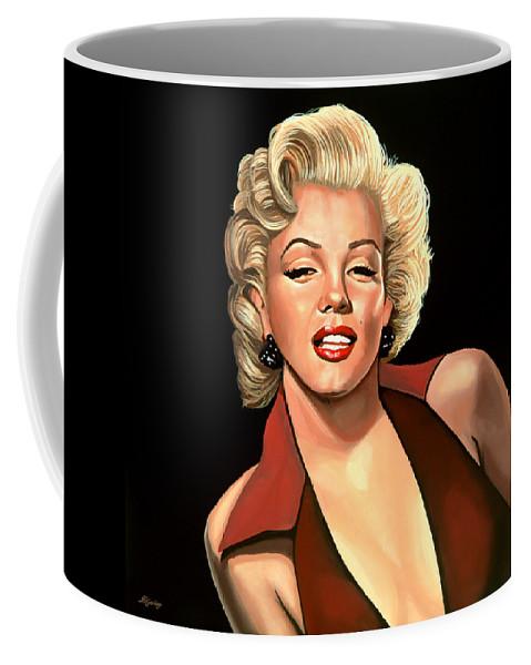 Marilyn Monroe Coffee Mug featuring the painting Marilyn Monroe 4 by Paul Meijering
