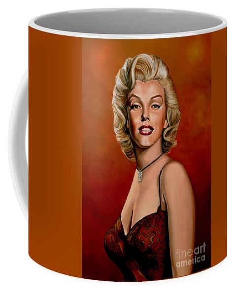 Marilyn Monroe Coffee Mug featuring the painting Marilyn Monroe 6 by Paul Meijering