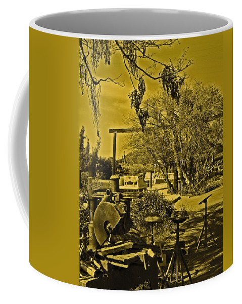 Sacramento River Delta Coffee Mug featuring the photograph Marina Upkeep by Joseph Coulombe
