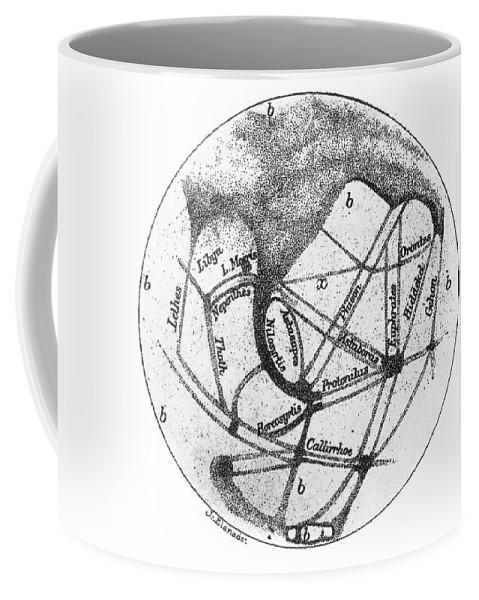 1877 Coffee Mug featuring the photograph Mars: Schiaparelli, 1877 by Granger