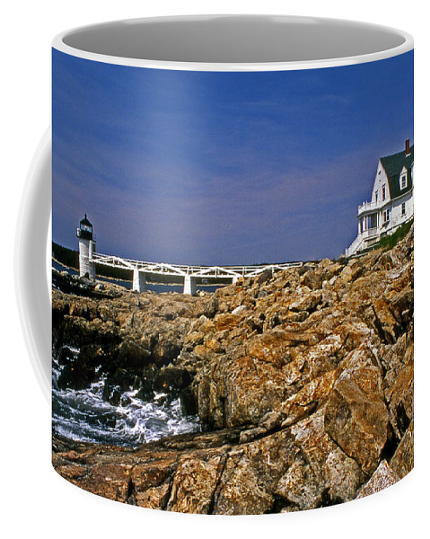 Lighthouses Coffee Mug featuring the photograph Marshall Point Lighthouse Complex by Skip Willits