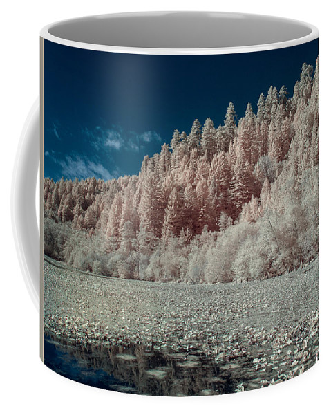 Infrared Coffee Mug featuring the photograph Marshall Pond In Infrared by Greg Nyquist