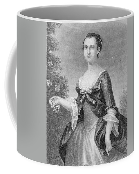 1757 Coffee Mug featuring the painting Martha Washington (1732-1801) by Granger