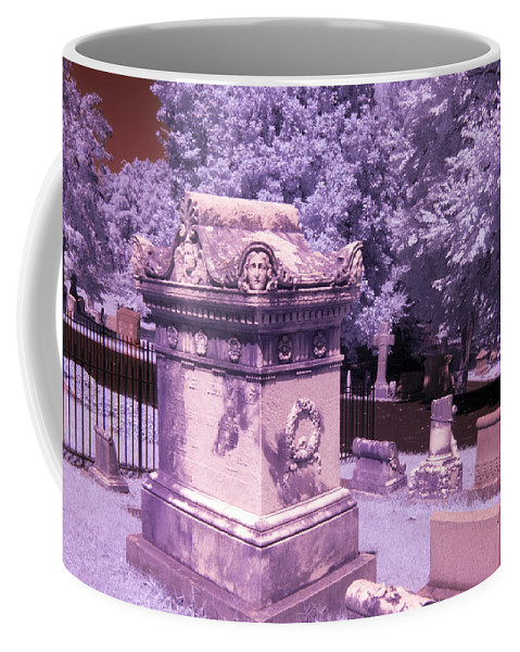 Near Coffee Mug featuring the photograph Mary And John Tyler Memorial Near Infrared Lavender And Pink by Sally Rockefeller