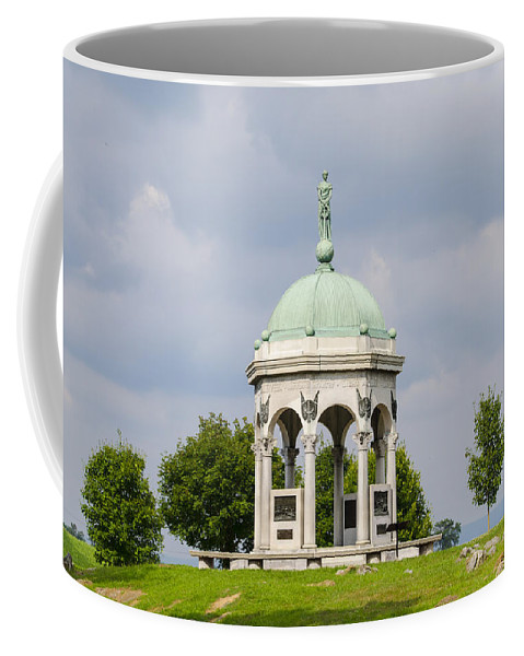 Maryland Coffee Mug featuring the photograph Maryland Monument - Antietam National Battlefield by Bill Cannon